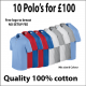 10 Polo's for £100 deal + Free embroidery