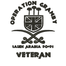 Op Granby Gulf 91 Veteran Embroidered